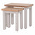 Charlestown Grey Set of 2 Nest of Tables  with Oak Tops from Roseland Furniture