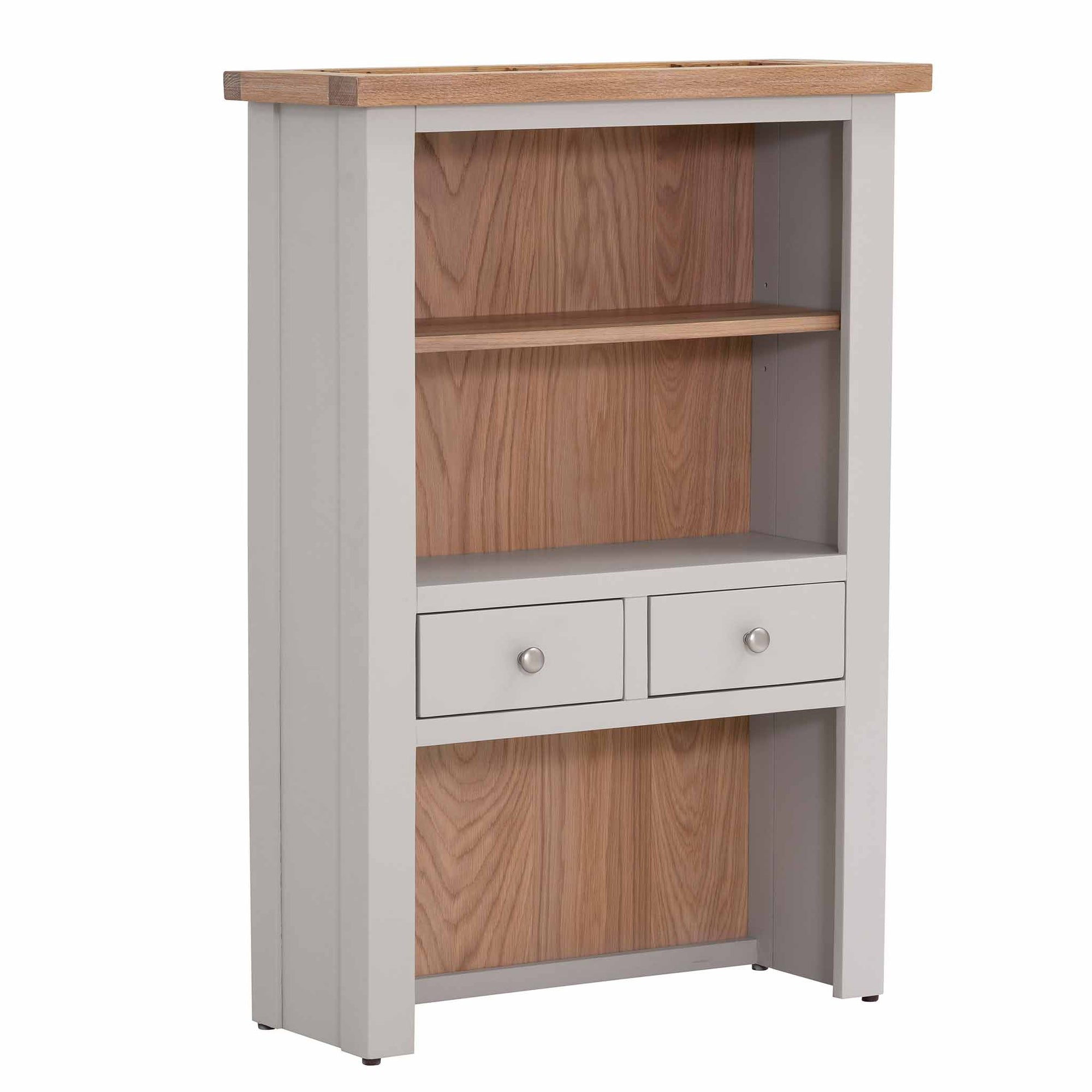Charlestown Grey 2 Drawer Kitchen Hutch from Roseland Furniture