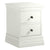 Melrose White Narrow Bedside Table from Roseland Furniture