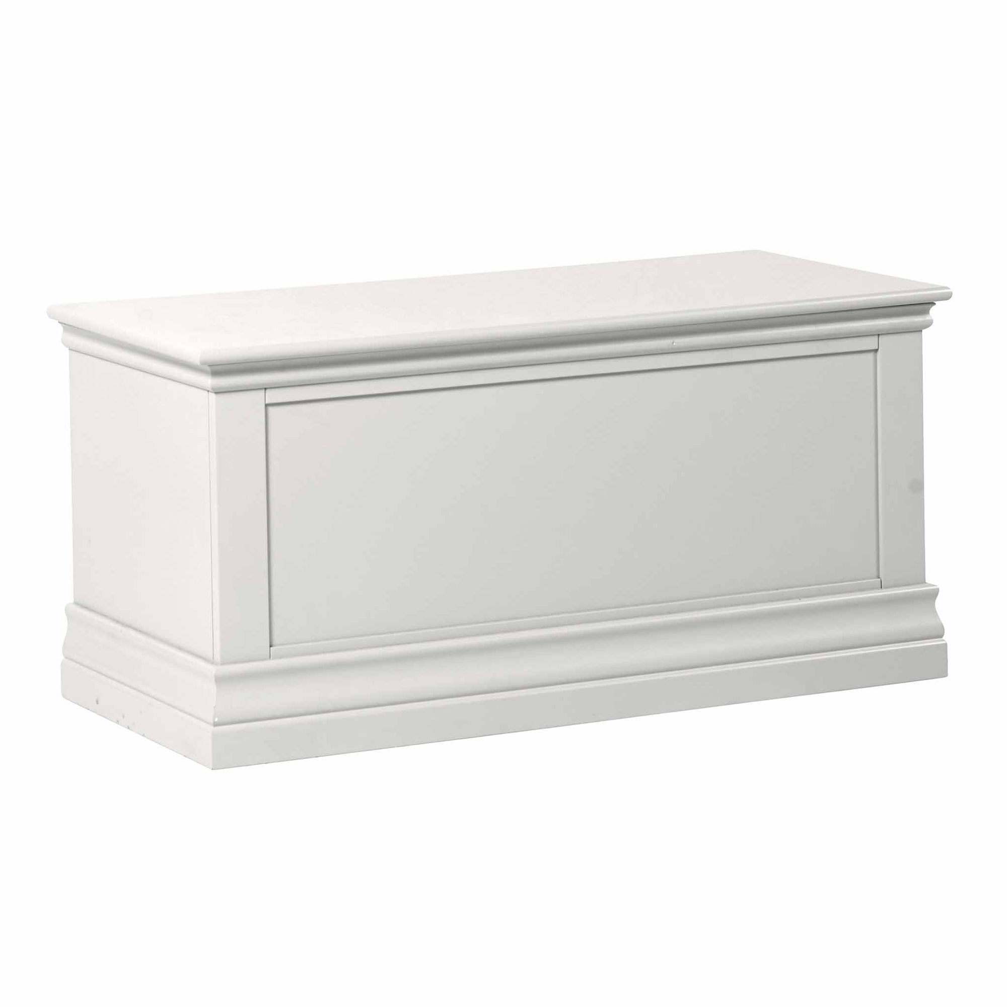 Melrose White Blanket Storage Box from Roseland Furniture