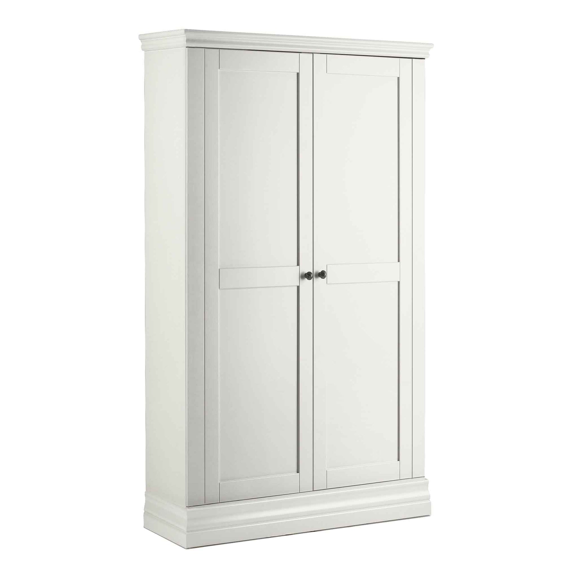Melrose White Narrow Double Wardrobe from Roseland Furniture