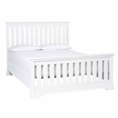 Melrose White King Size Slatted Bed Frame from Roseland Furniture