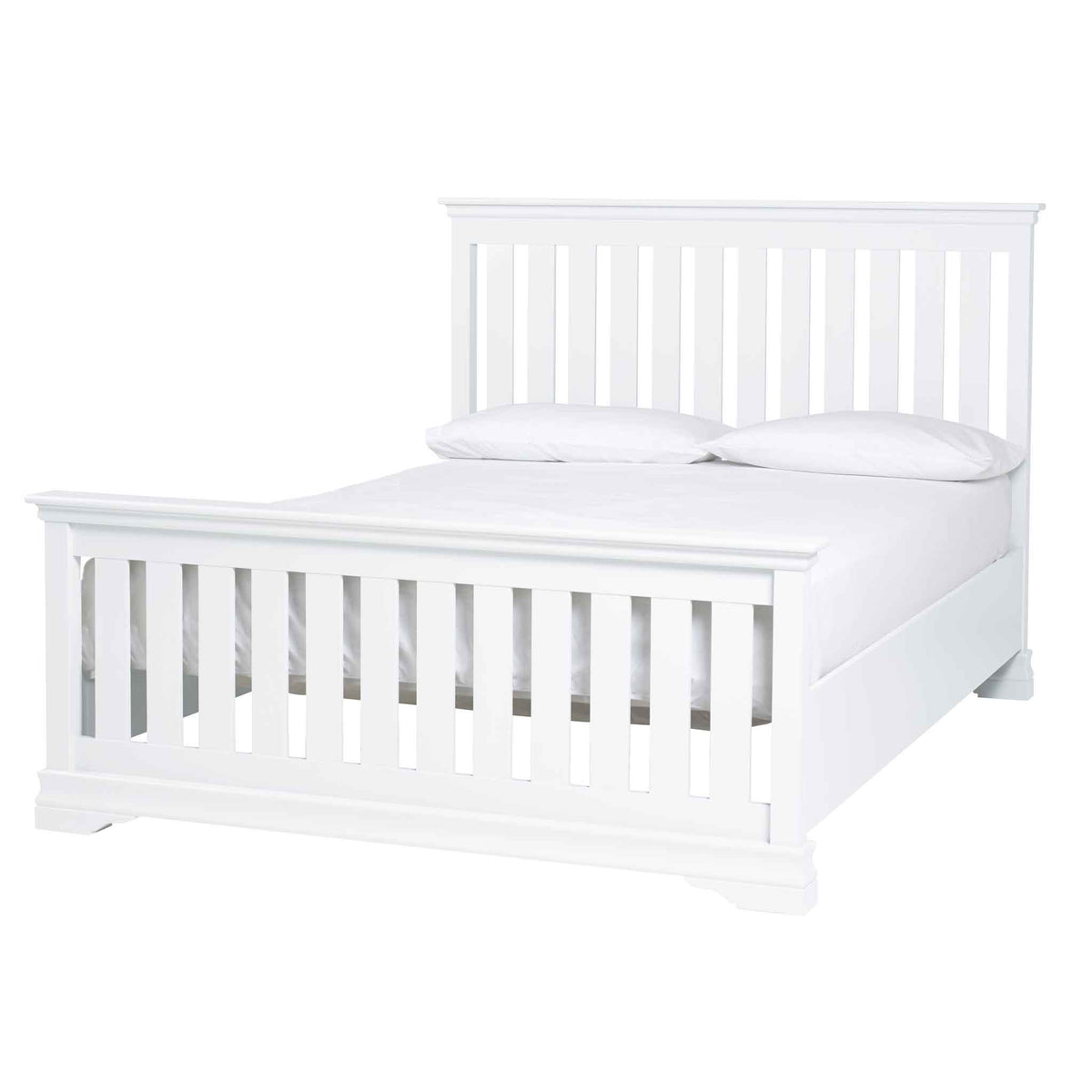 Melrose White 5ft Slatted Bed Frame from Roseland Furniture