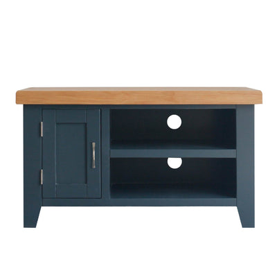 Chatsworth Blue 90 cm Small TV Stand from Roseland Furniture