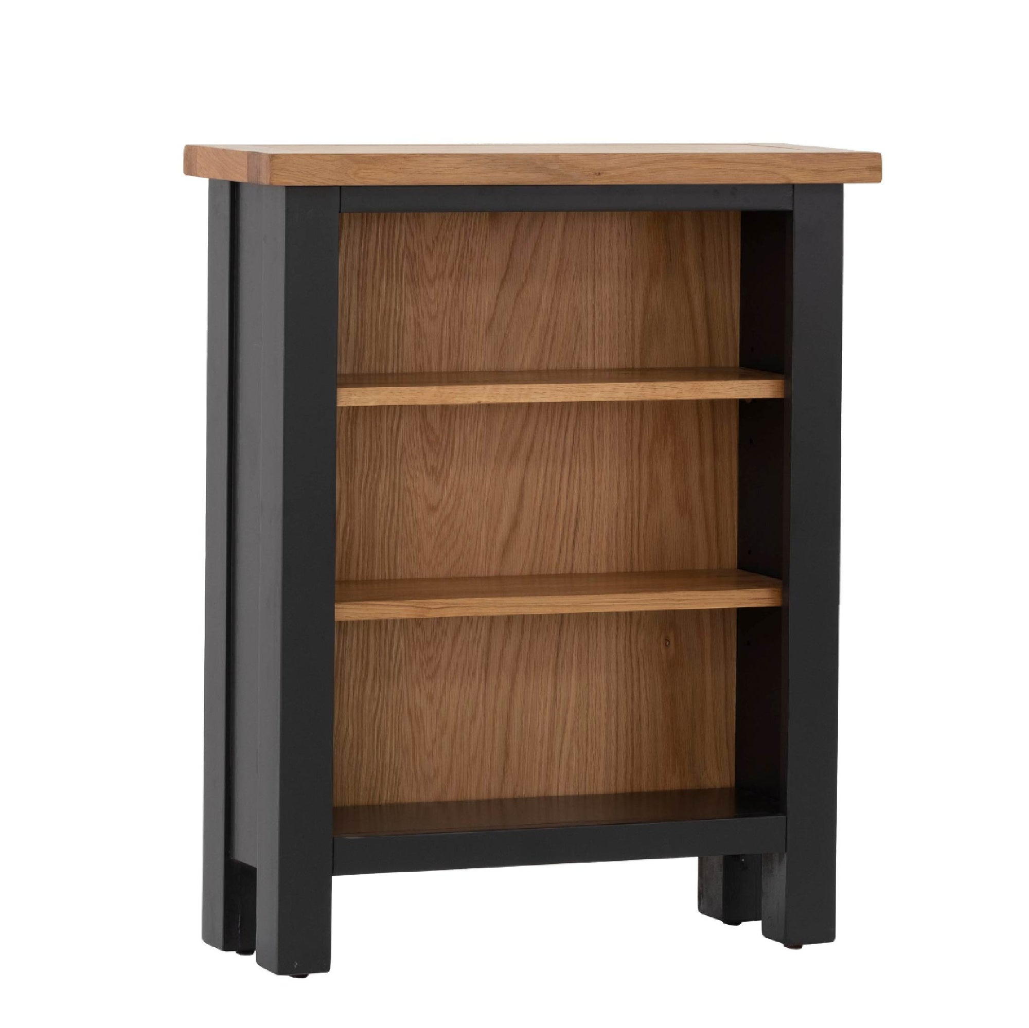 Charlestown Black Low Bookcase by Roseland Furniture
