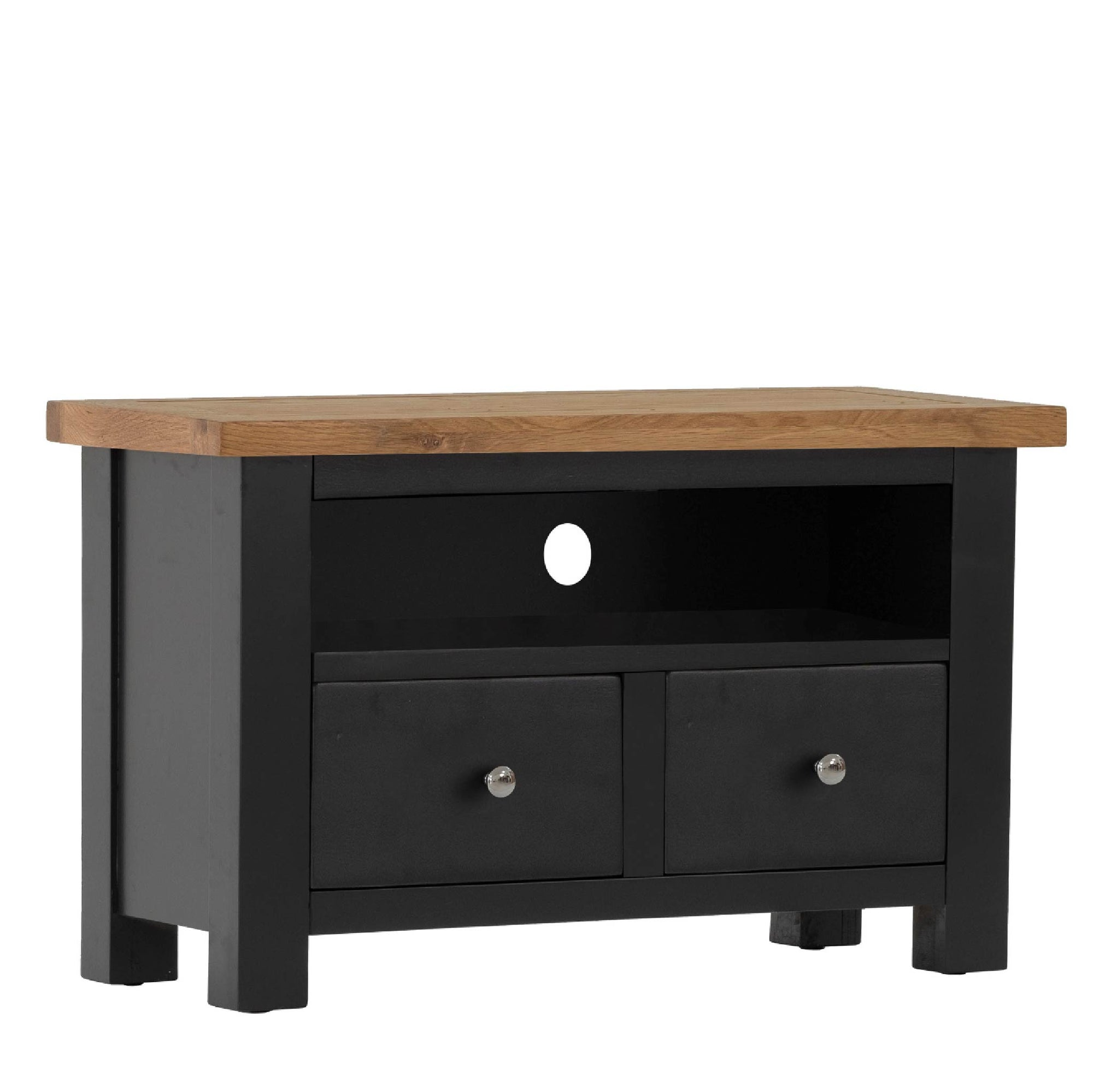 Charlestown Black TV Stand with Drawers by Roseland Furniture