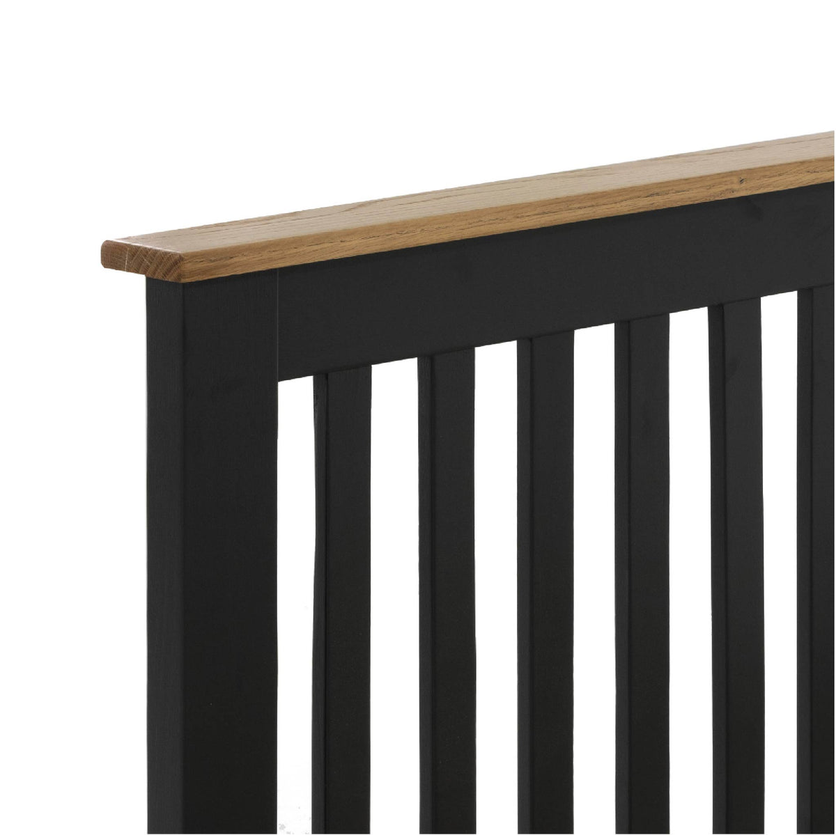 Charlestown Black Solid Wood Double Bed Frame - Head of Bed View