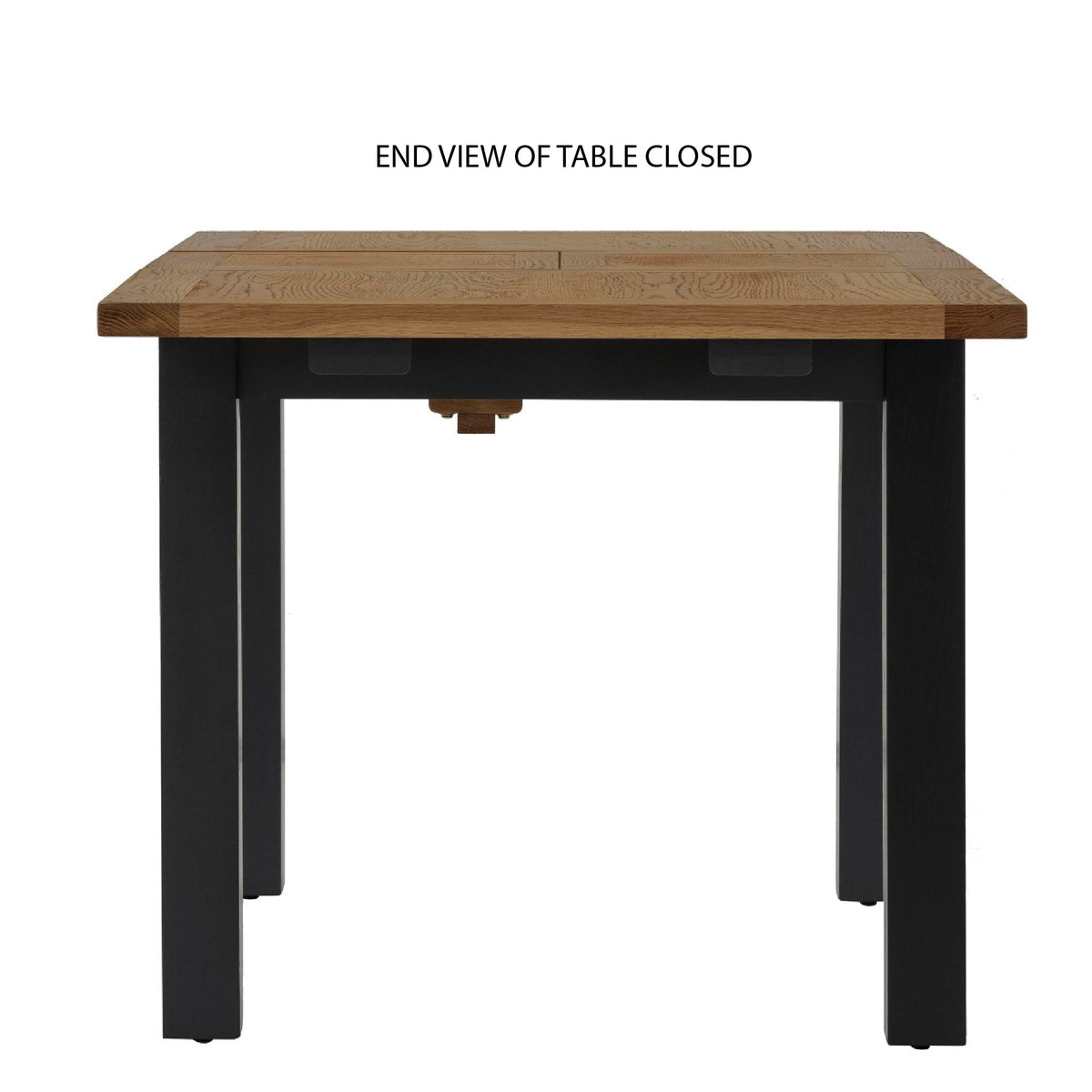 Charlestown Black Extendable Dining Table - Closed End View