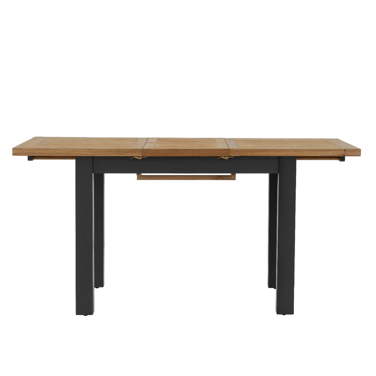 Charlestown Black Extendable Dining Table - Extended Length View