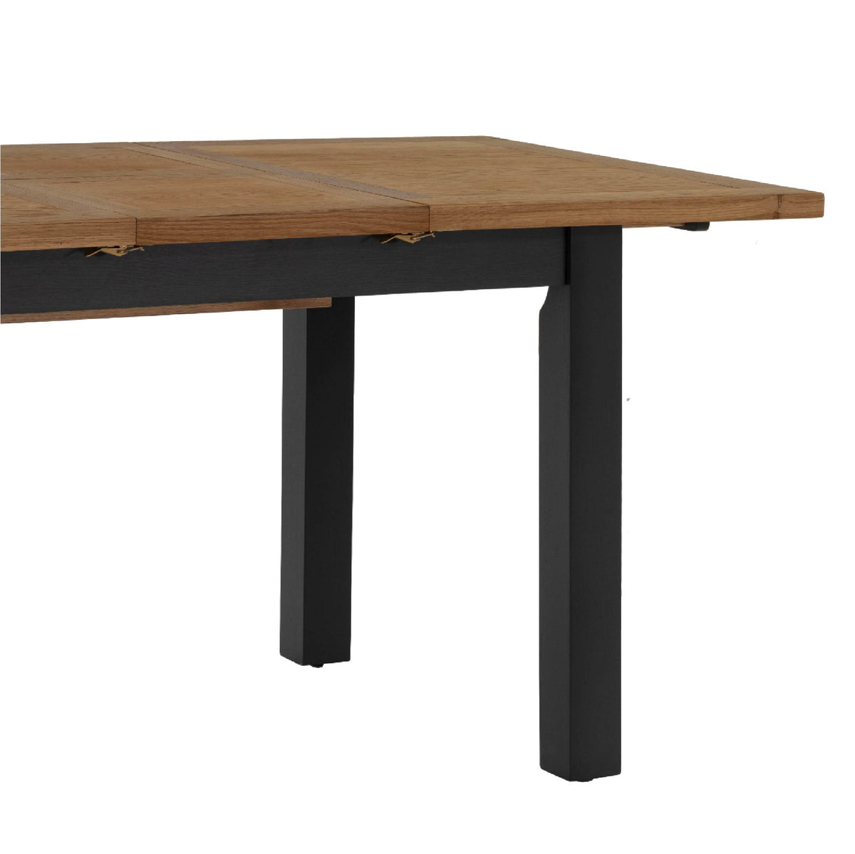 Charlestown Black Extendable Dining Table - Close up End View