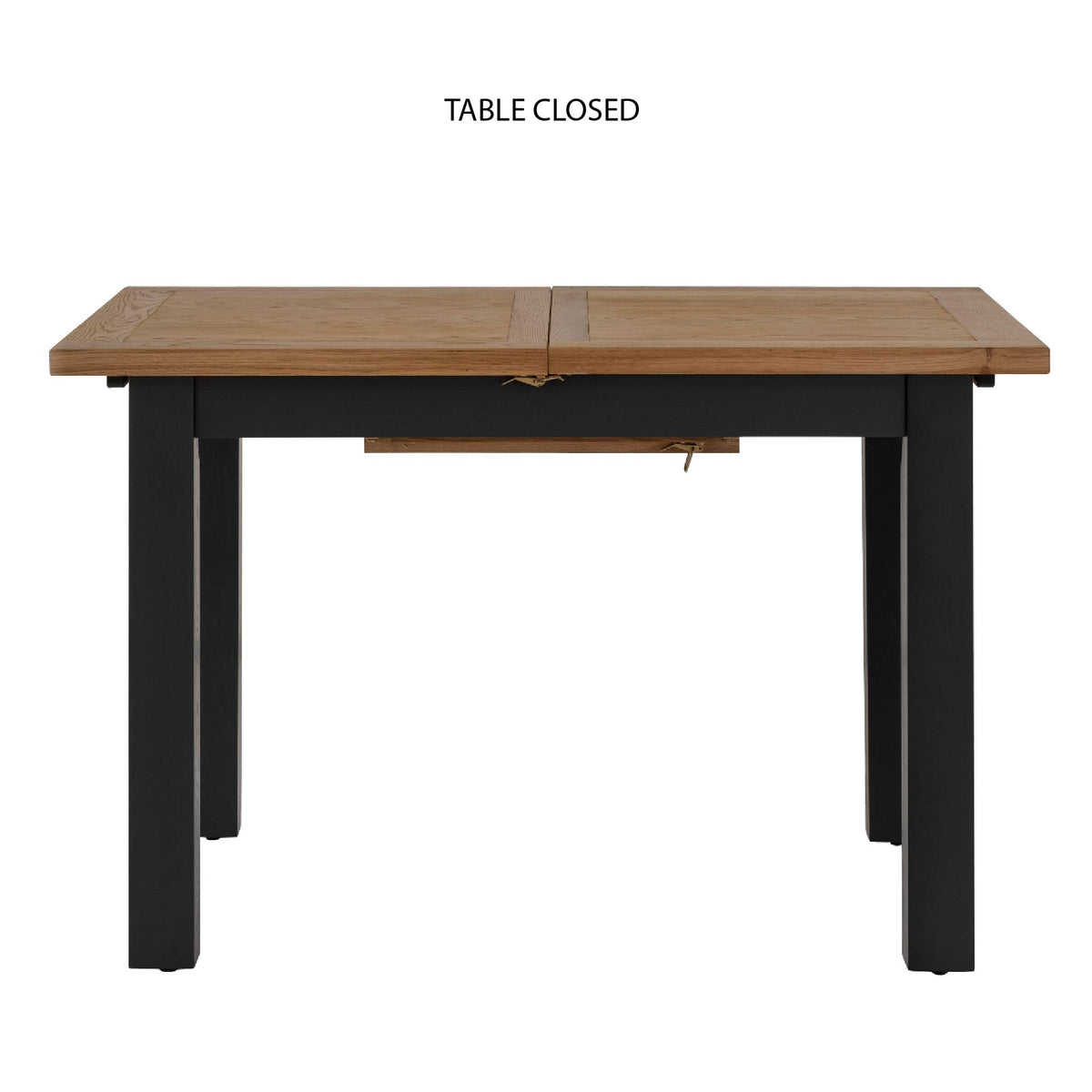 Charlestown Black Extendable Dining Table - Closed View Length of Table
