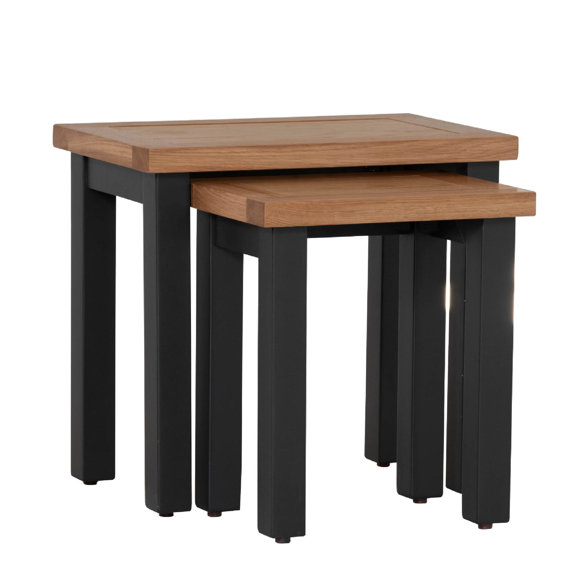 Charlestown Black Set of 2 Nest of Tables by Roseland Furniture