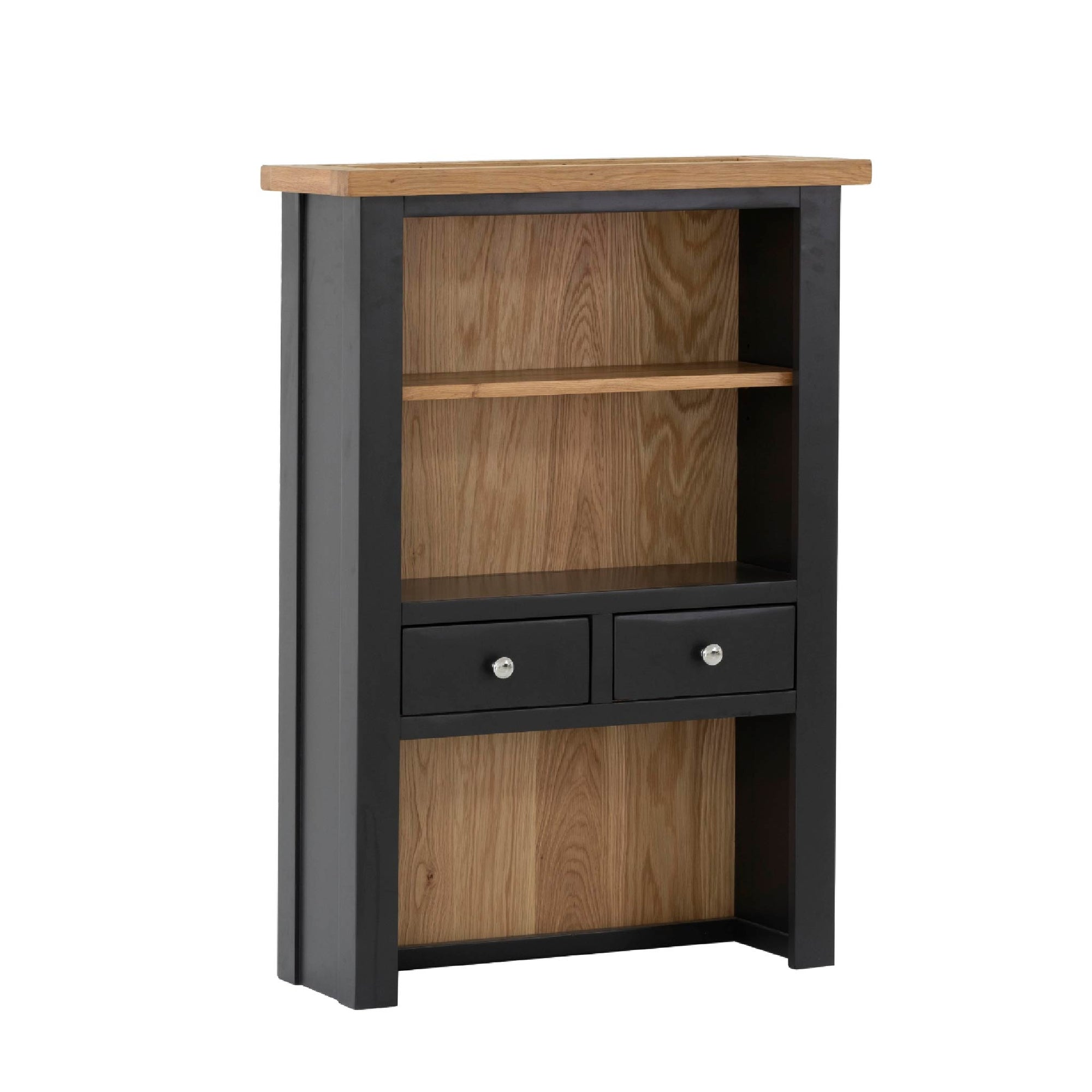 Charlestown Black 2 Drawer Hutch by Roseland Furniture