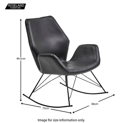 Bryce Accent Rocking Chair - Size Guide