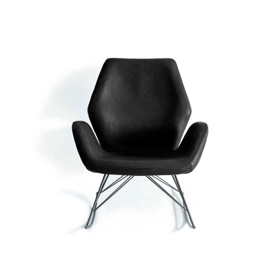 Bryce Accent Rocking Chair - Black Leather
