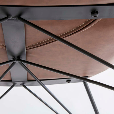 Bryce Brown Faux Leather Rocking Chair - Close up of Underside of chair