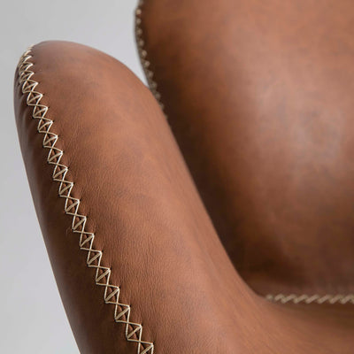Bryce Accent Rocking Chair - Brown Faux Leather