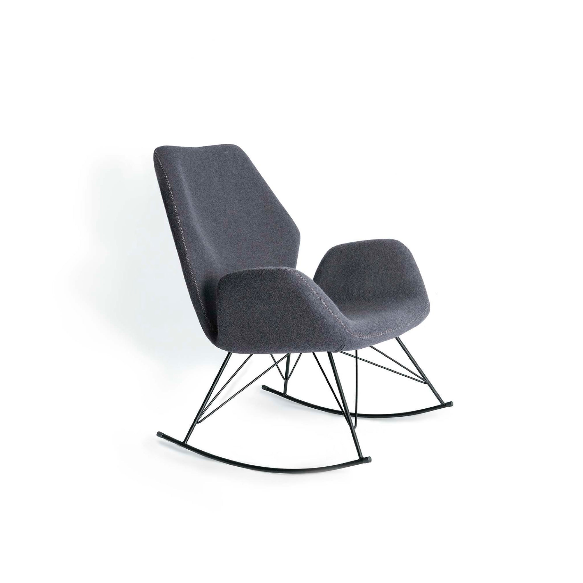 Bryce Dark Grey Rocking Chair - Side view
