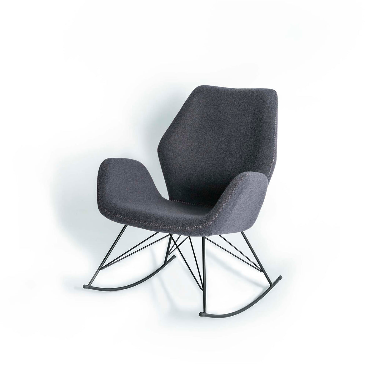 Bryce Accent Rocking Chair - Dark Grey