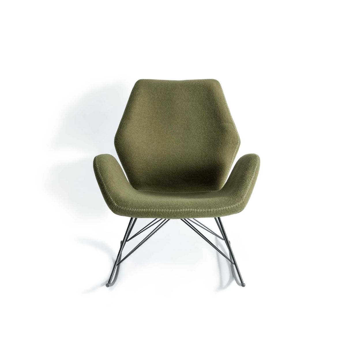 Bryce Accent Rocking Chair - Dark Green