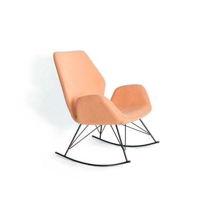 Bryce Dusky Peach Rocking Chair - Side view
