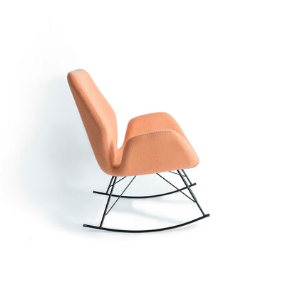 Bryce Dusky Peach Rocking Chair - Side on view