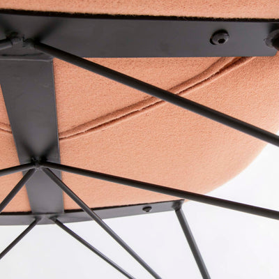 Bryce Dusky Peach Rocking Chair - Close up of underside of chair