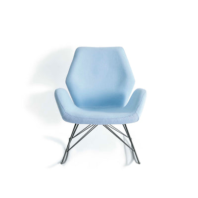 Bryce Sky Blue Rocking Chair by Roseland Furniture