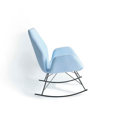 Bryce Sky Blue Rocking Chair - Side on view