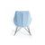 Bryce Sky Blue Rocking Chair - Back view