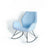 Bryce Sky Blue Rocking Chair - Side view