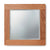 Mobel Oak Bathroom Small Wall Mounted Square Mirror 45 x 45cm on white background