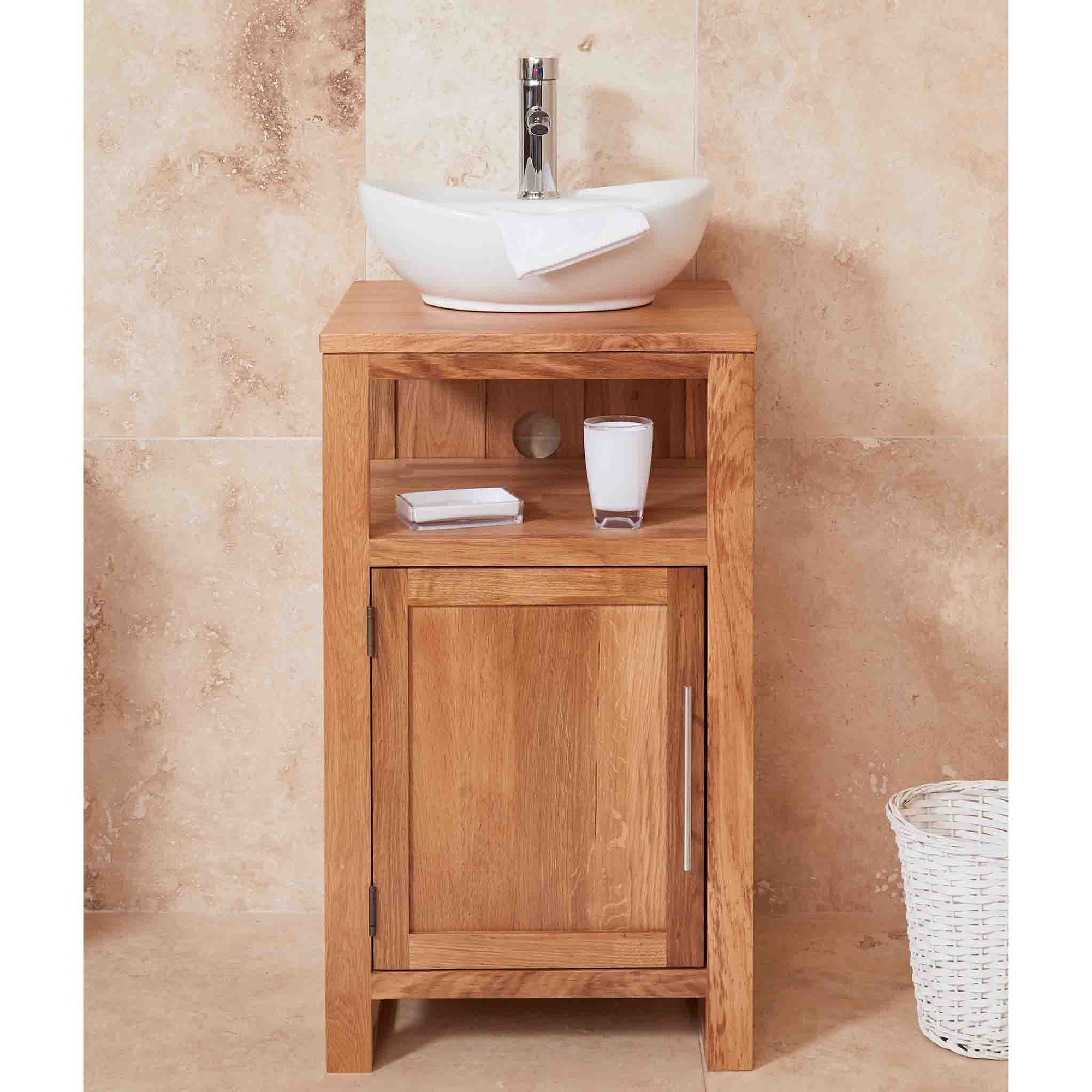 Mobel Oak Bathroom 1 Door Round Sink Unit