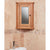 Mobel Bathroom 100% Solid Oak Mirrored Corner Wall Cabinet