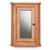 Mobel Bathroom 100% Solid Oak Mirrored Corner Wall Cabinet on white background
