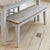 Signature Grey 130cm Dining Bench