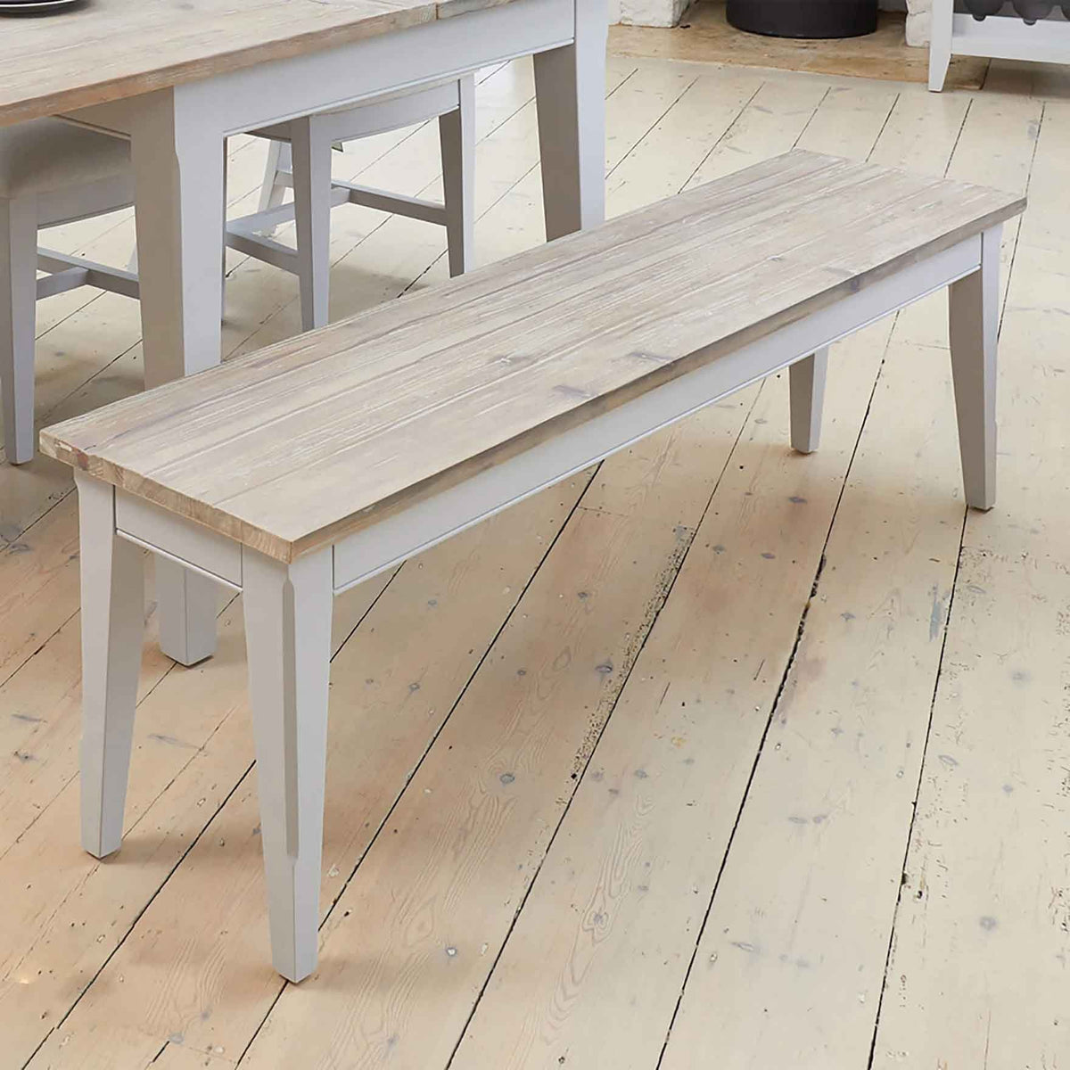 Signature Grey 150cm Dining Bench