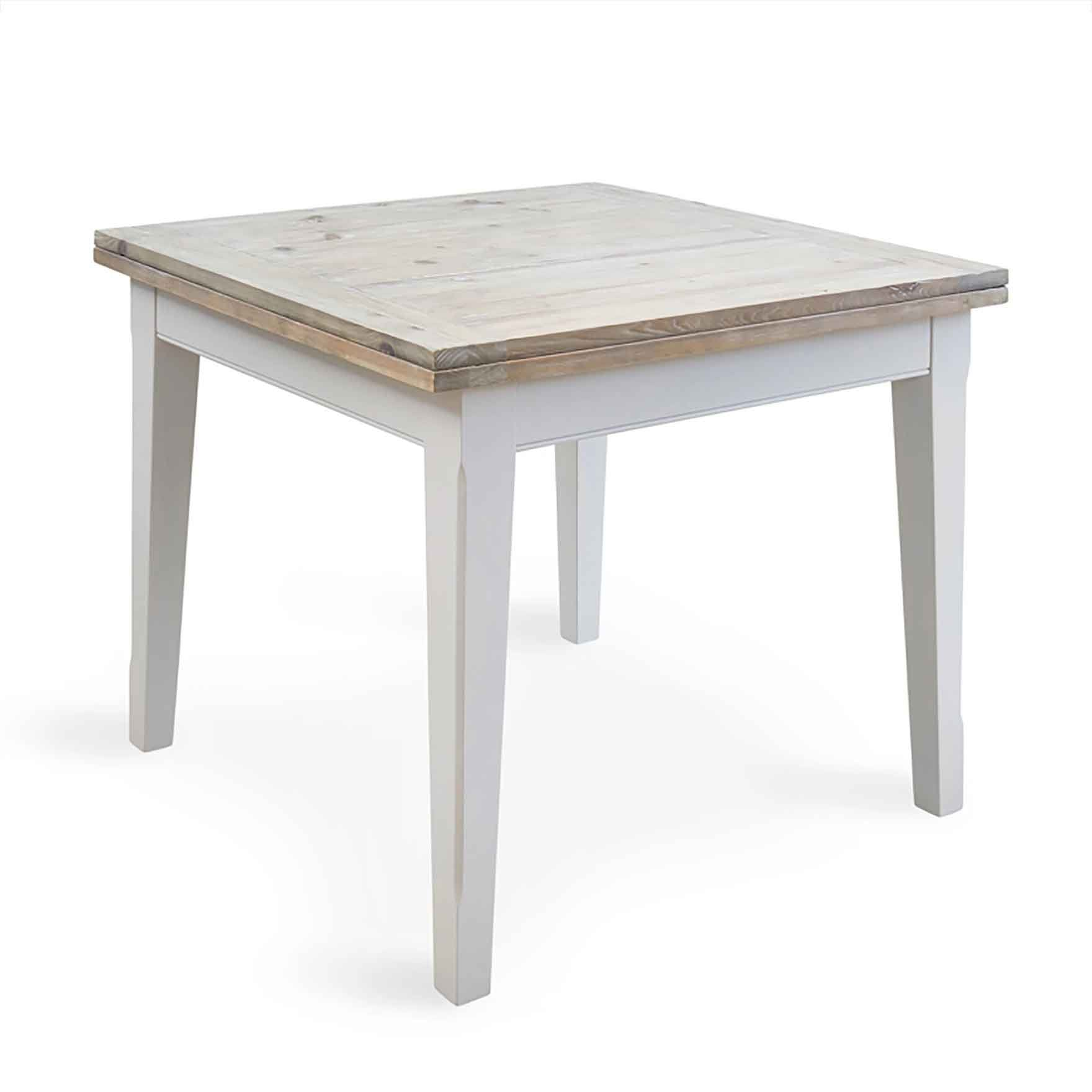 Signature Grey 95-190cm Square Extending Dining Table by Roseland Furniture