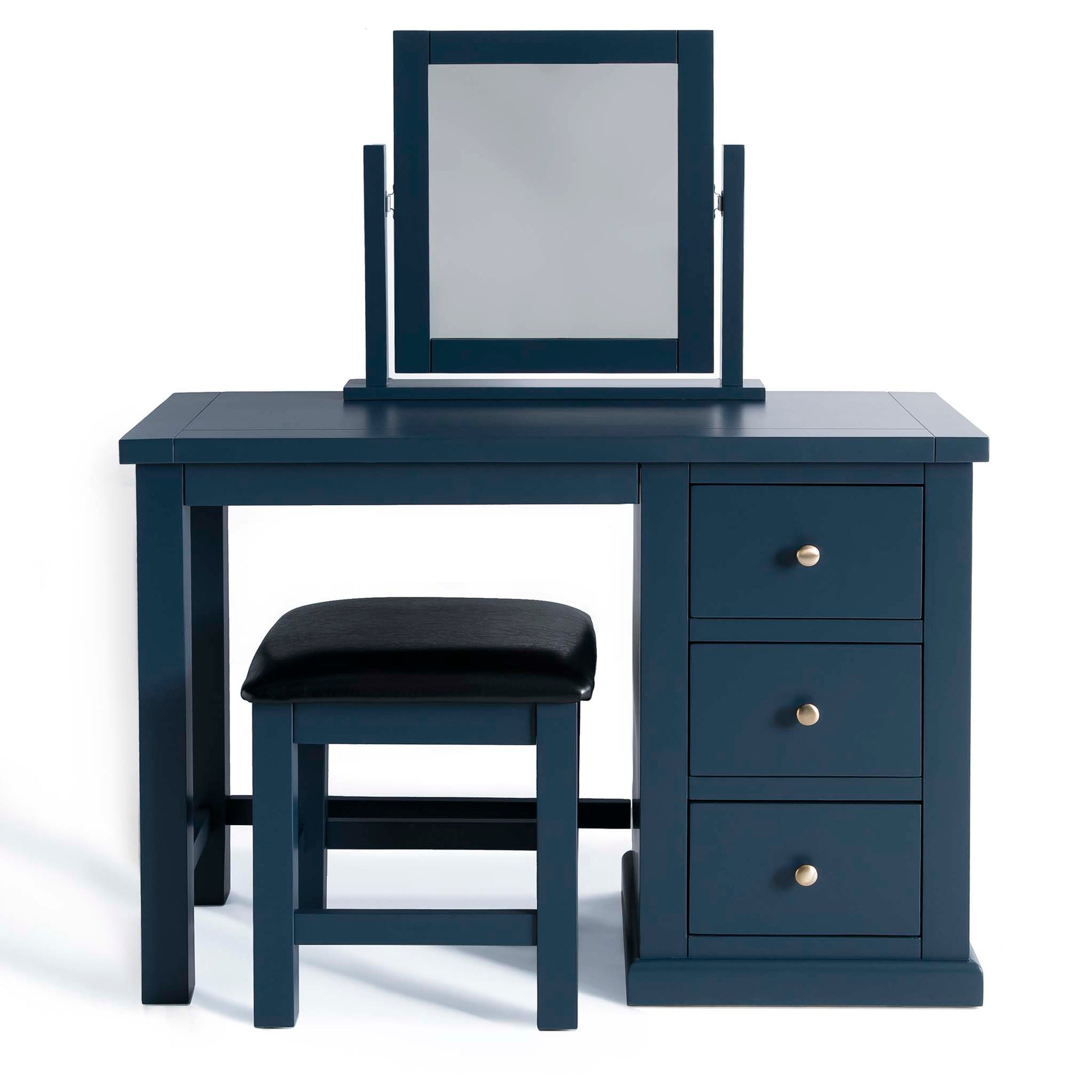 Cheltenham Blue Dressing Table Set with Mirror by Roseland Furniture