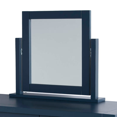 Cheltenham Blue Vanity Mirror - Side view