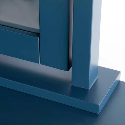 Cheltenham Blue Vanity Mirror - Close up of mirror base
