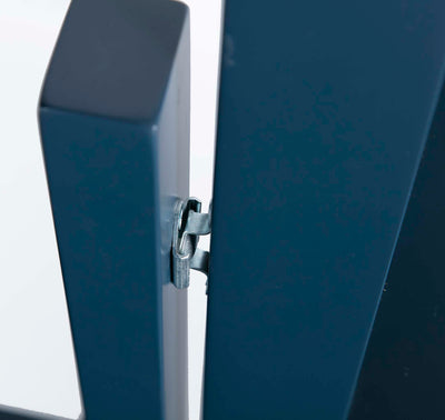 Cheltenham Blue Vanity Mirror - Close up of mirror hinge