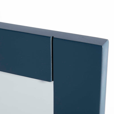 Cheltenham Blue Vanity Mirror - Close up of top corner of mirror