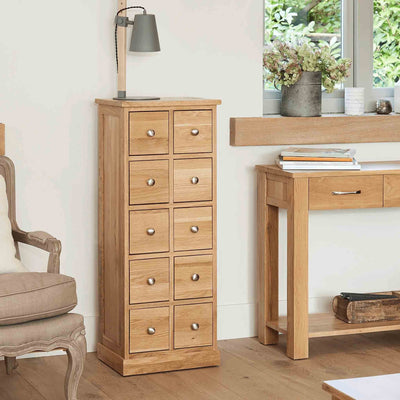 Mobel Oak DVD/CD Chest by Roseland Furniture