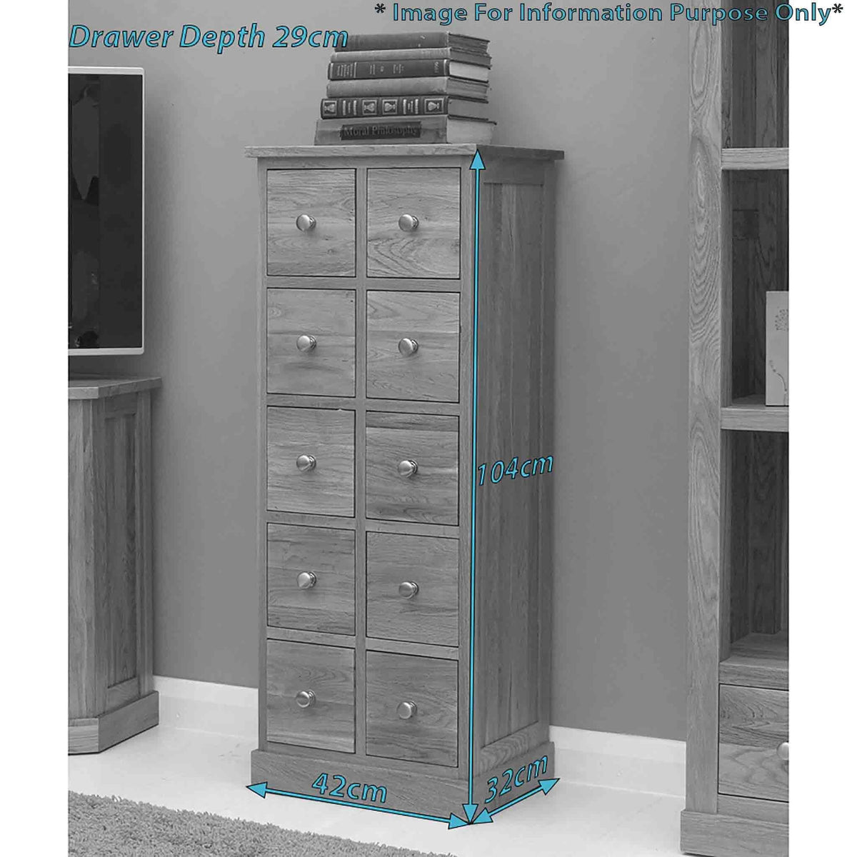Dimensions - Mobel Oak DVD/CD Chest