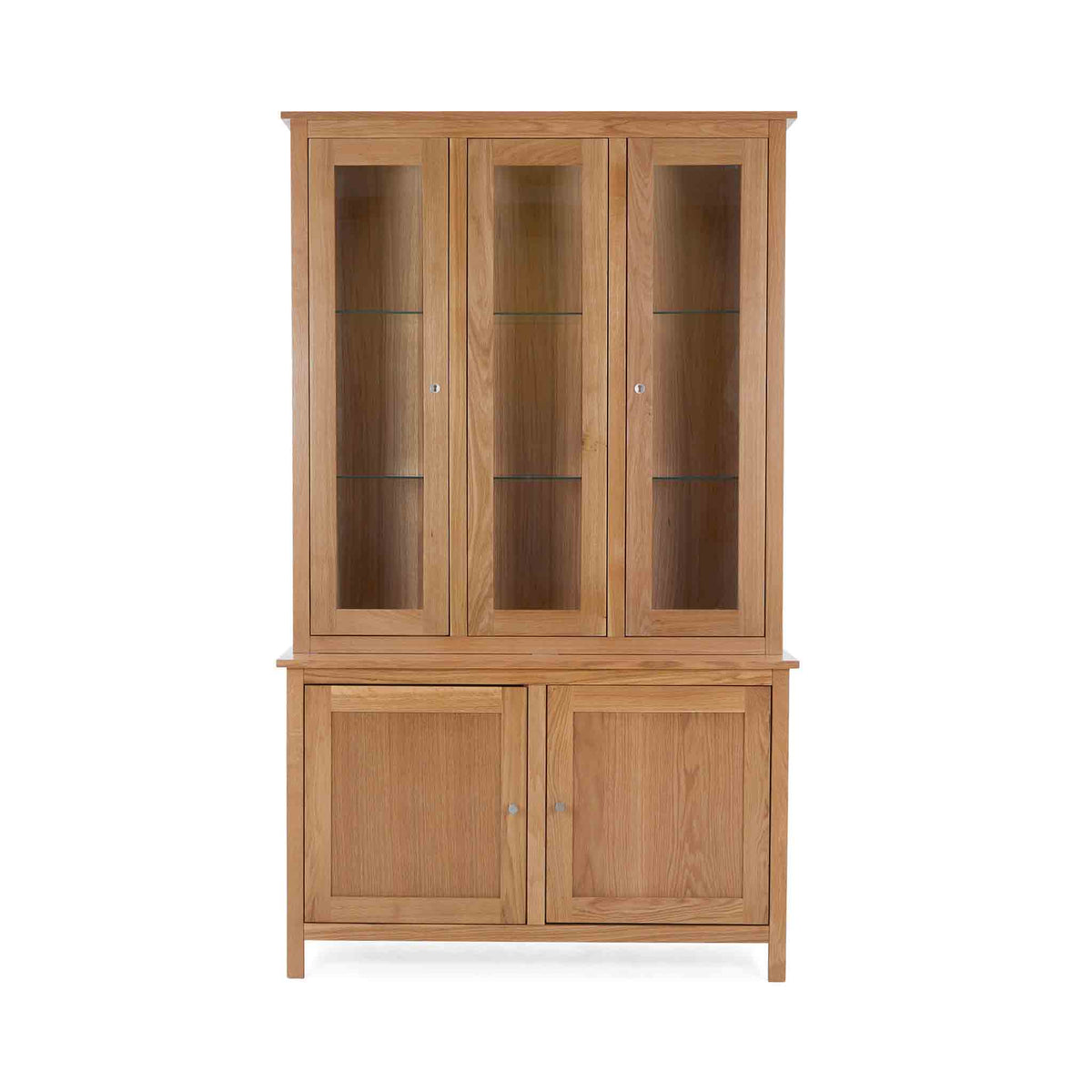 Falmouth Oak Large Display Cabinet with internal light on