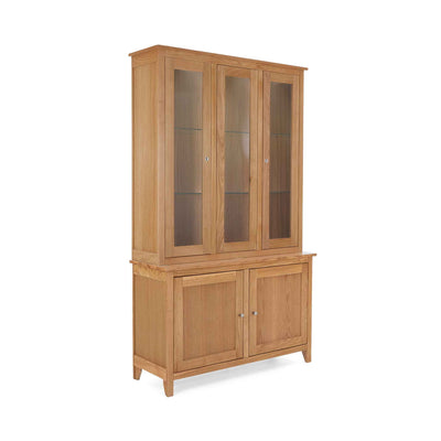 Falmouth Oak Large Display Cabinet by Roseland Furniture