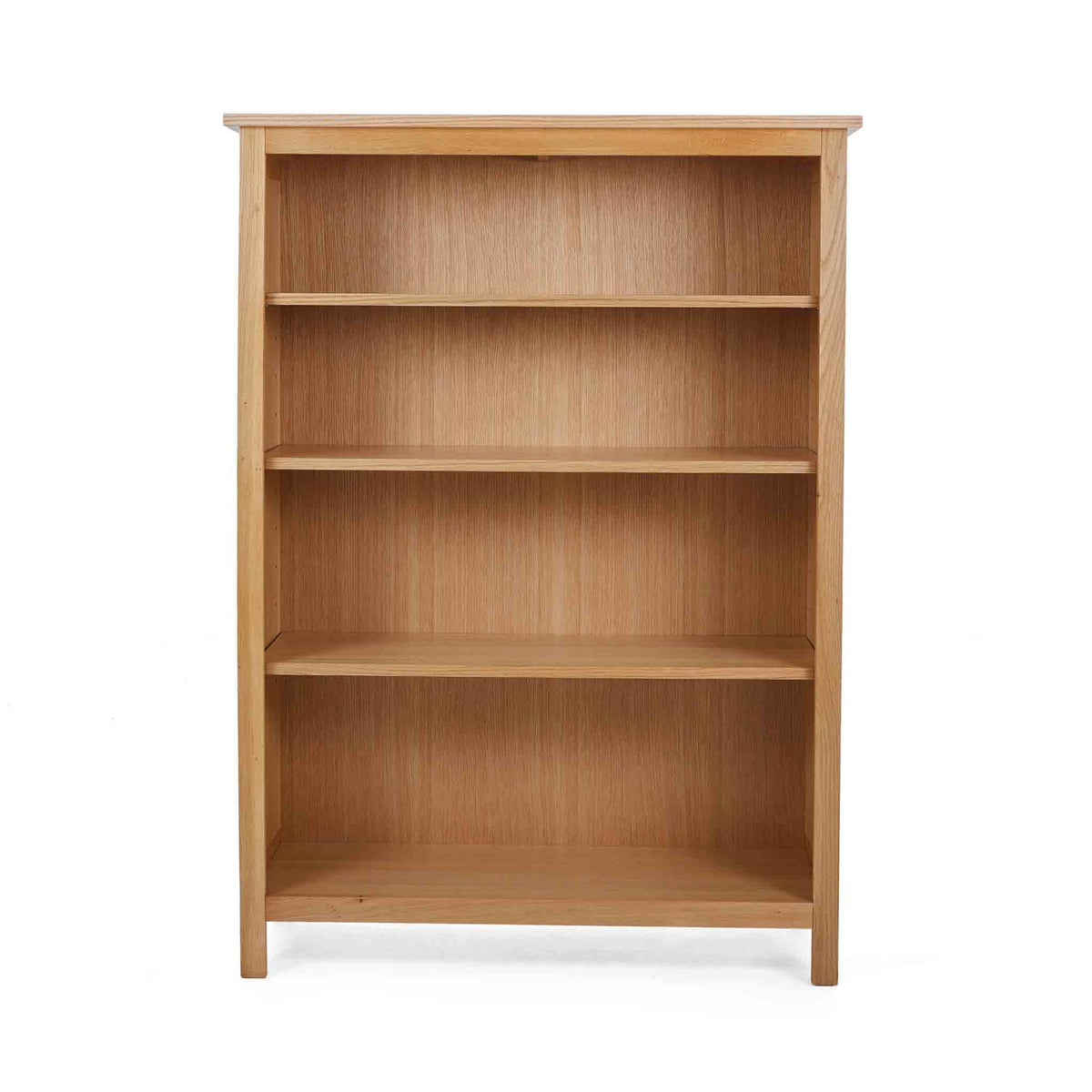 Front view of the Falmouth Oak Small Bookcase