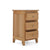 3 Drawer view of the Falmouth Oak Narrow Bedside Table