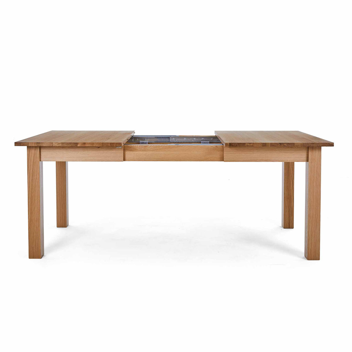 Extended view of the Falmouth Oak Large Extending Dining Table